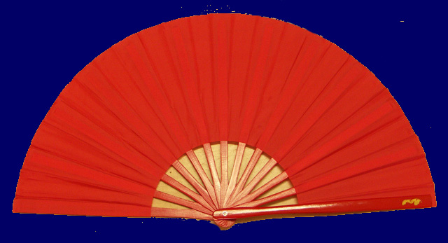 Tai Chi Fan - PLAIN Red